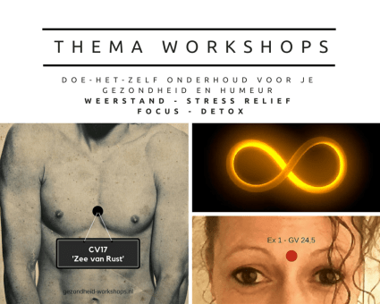 Thema workshops gezondheid. Weerstand - stress relief - focus - detox.