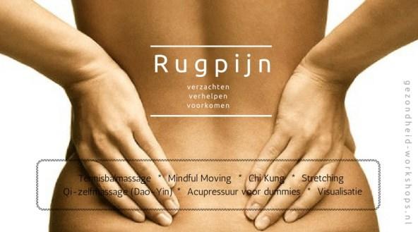 Rugpijn, vitaliteit op kantoor, bedrijfsworkshop, gezondheid, gezondheid op kantoor, Chi Kung, acupressuur, masseren met tennisbal