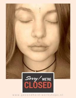 gezondheid-workshops, pijn door stress, stress door pijn, rust, ogen dicht, ontspannen, hoofdpijn, burn-out, vermoeidheidslachten, Wereldconditie 'Light', Burn-outklachten, overspannen, ontspanning, Chi Kung, Rust, Ogen EHBO, Jeanine Theunissen, stress relieve, stress relief, stress loslaten, Chi Kung