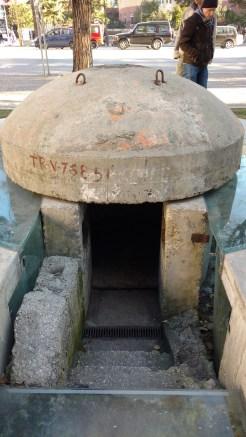 Einer der vielen Bunker in Albanien