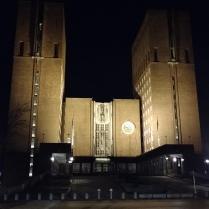 Das Rathaus bei Nacht
