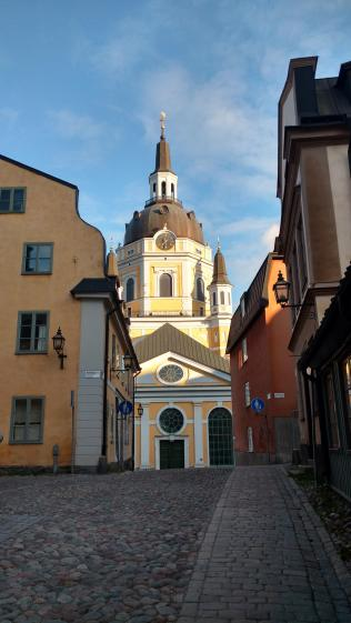 Blick auf die Katarina kyrka