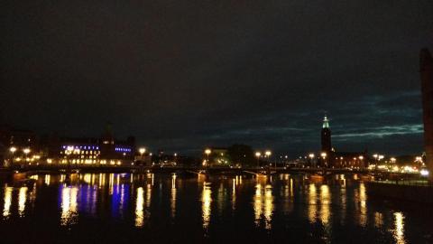Nächtliches Stockholm