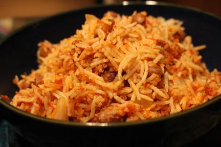 Cranberry Bean and Tomato Basmati Rice