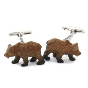 bear cuff links
