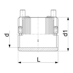 Электросварная муфта d20-d63 SDR11 со встроенными фиксаторами (схема)
