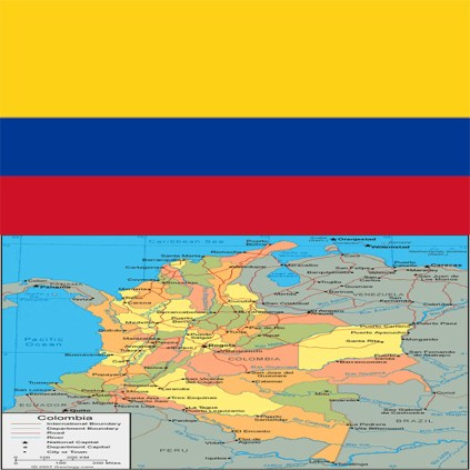 Flag_colombia-map