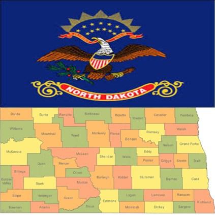 Flag_north-dakota-county-map