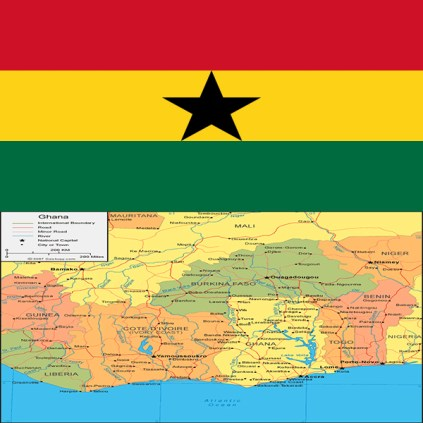 mapandFlafof Ghana