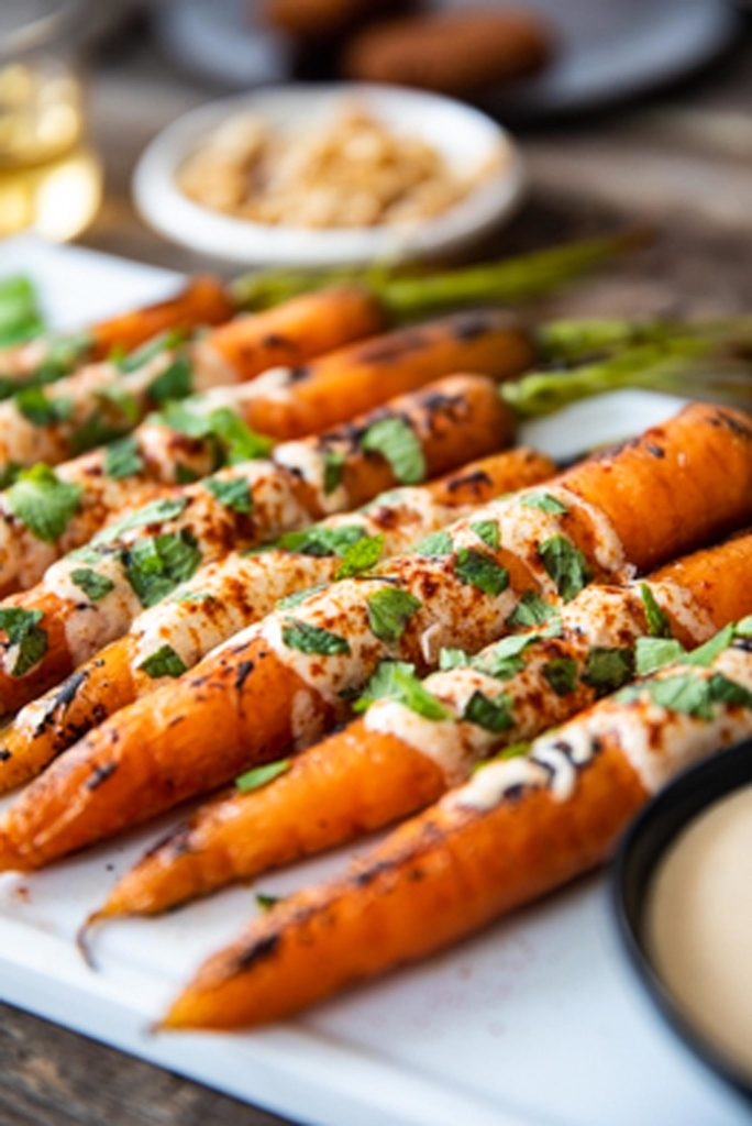 Gluten-Free Roasted Carrots with Lemon Tahini Sauce Recipe