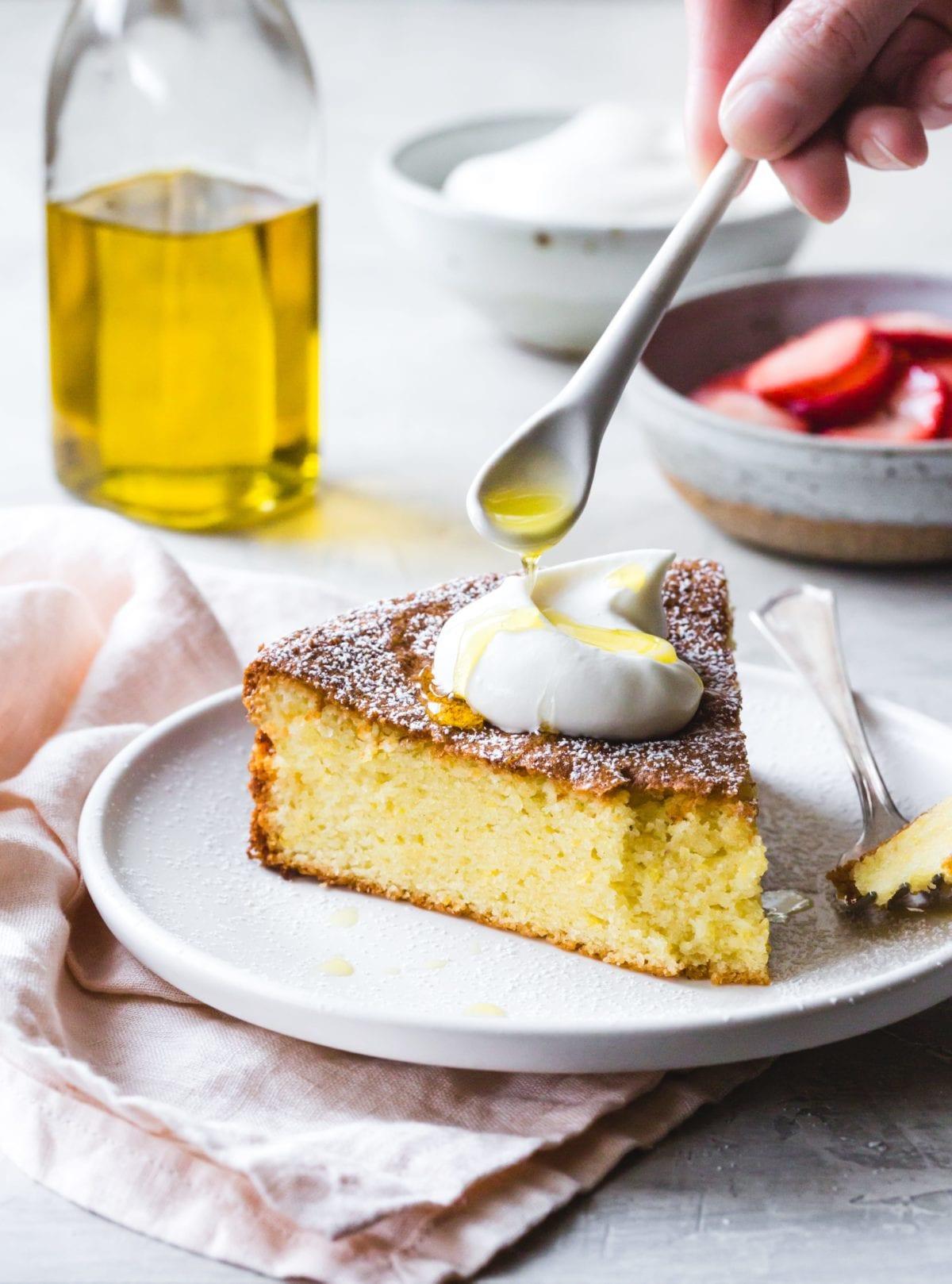 gluten free lemon olive oil cake