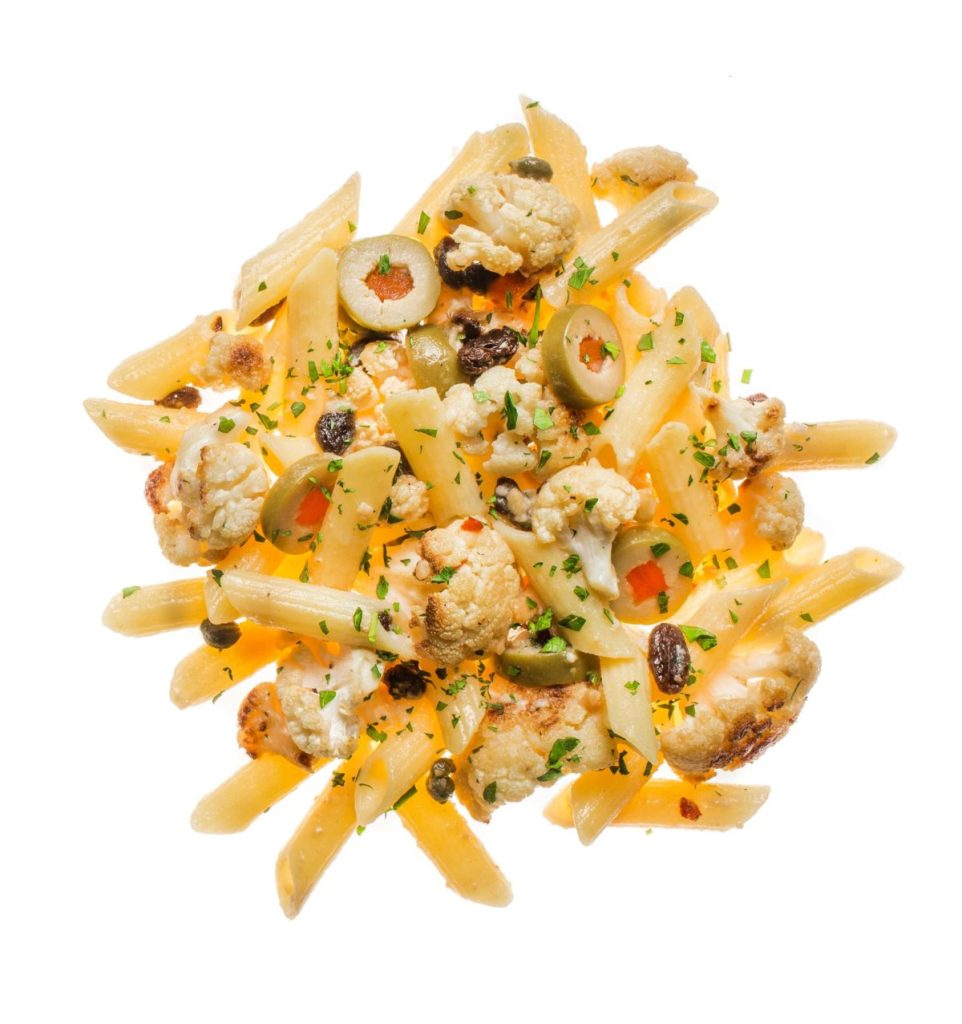 Pasta with Roasted Cauliflower, Pimento-Stuffed Olives, and Breadcrumbs Gluten-Free Recipe