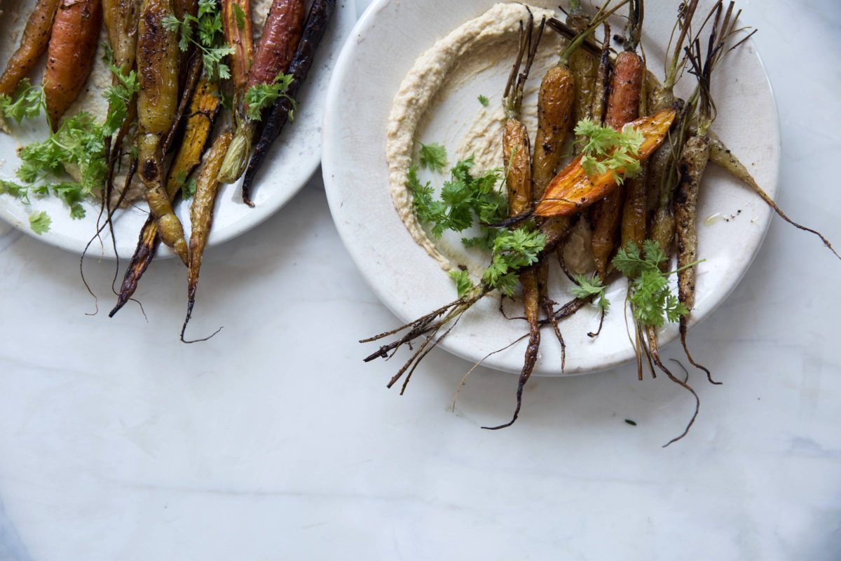 Roasted Carrots and Hummus Gluten Free