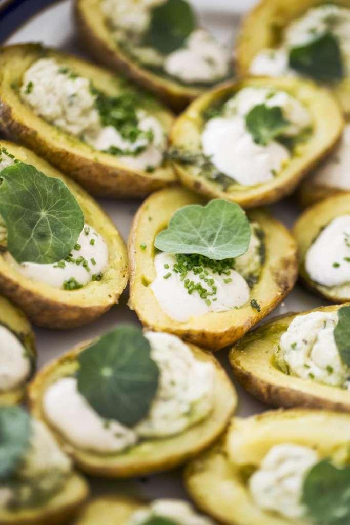 Gluten-Free Potato Skins with Yogurt and Guacamole