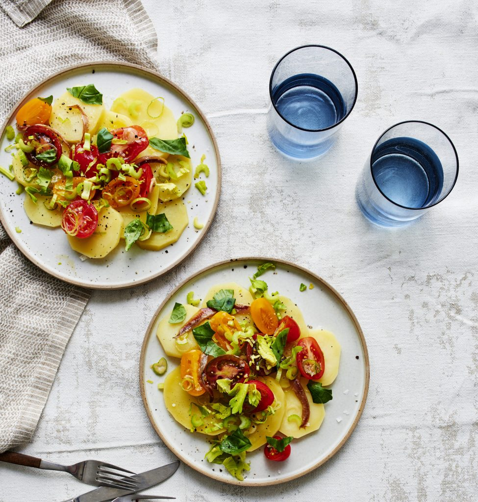 Gluten-Free Potato Salad with Cherry Tomato Vinaigrette Recipe