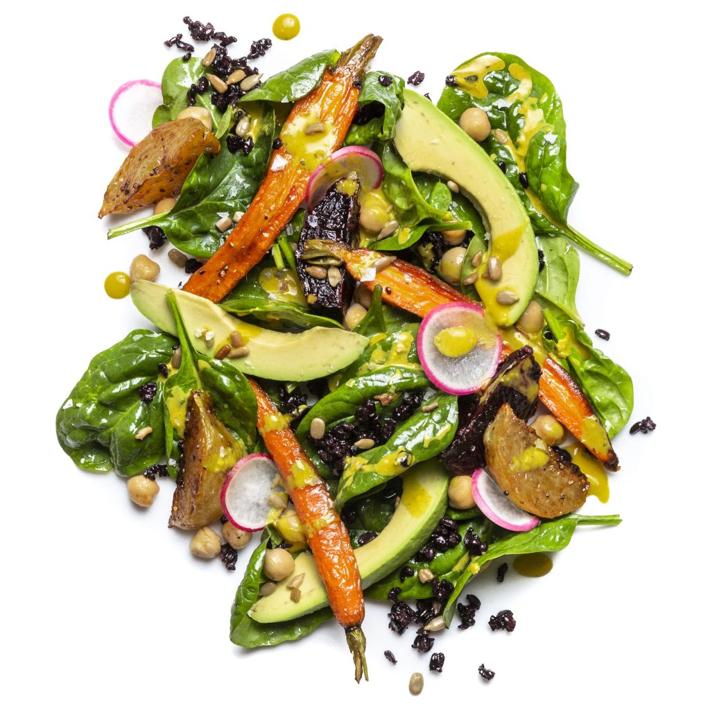 Rainbow Salad with Tahini-Turmeric Dressing
