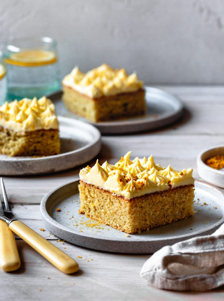 Gluten-Free Lemon Sheet Cake with Lemon Cream-Cheese Frosting