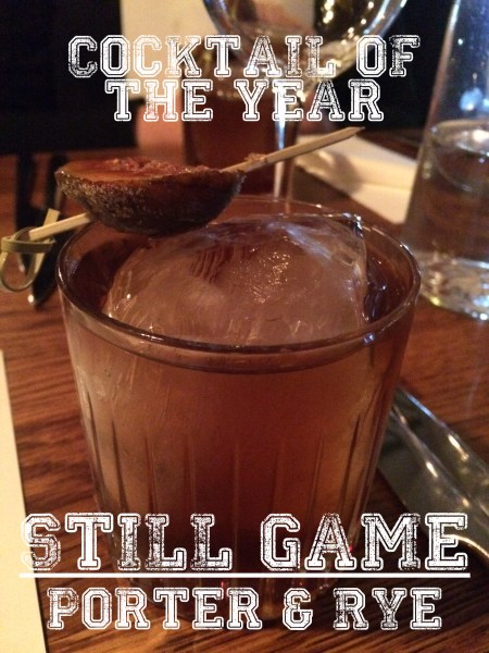 Cocktail of the year 2015 - still game cocktail
