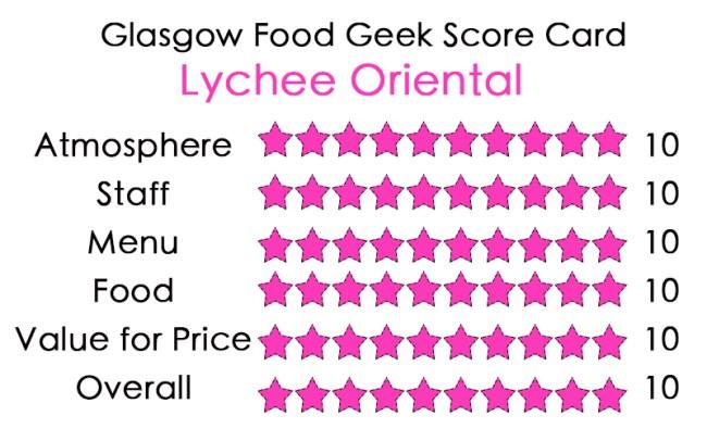 Lychee Oriental Glasgow Review