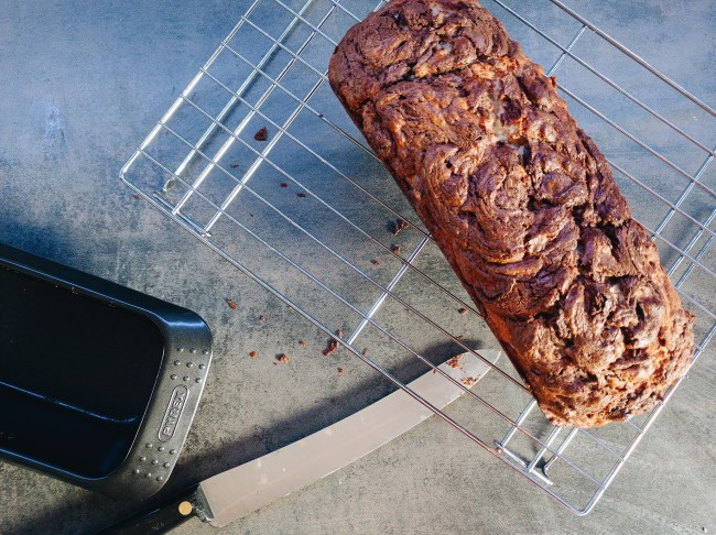 Banana Nutella Bread and Brown Butter Icing