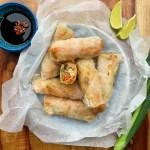 Vegetarian Spring Rolls {gluten free}