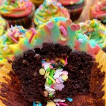 Chocolate SURPRISE cupcakes {gluten free}