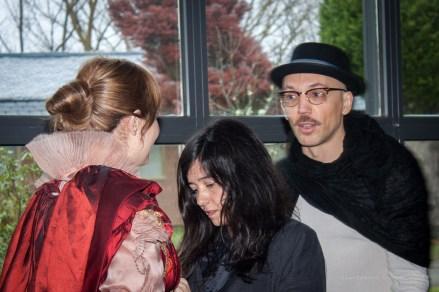 Heisenberg, estilista y modelo. Flashazo en la cara que les dí.