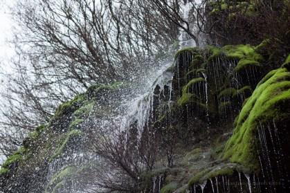 Agua congelada, y no por frío.