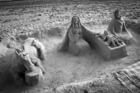 Figuras de arena, efímeras.