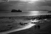 El ferry saliendo de puerto.