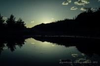 Lago en una poza