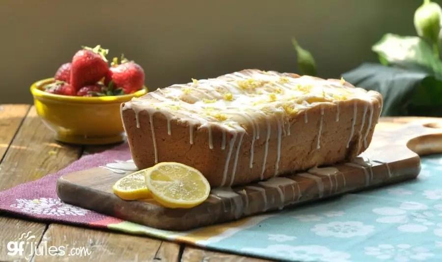 gluten free lemon pound cake with fruit gfJules