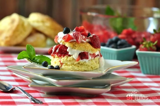 red white and blue gluten free shortcakes gfJules.com