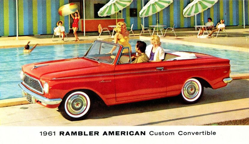 Vintage ad for a convertible car: more romantic than considering Roth conversions as an expat?
