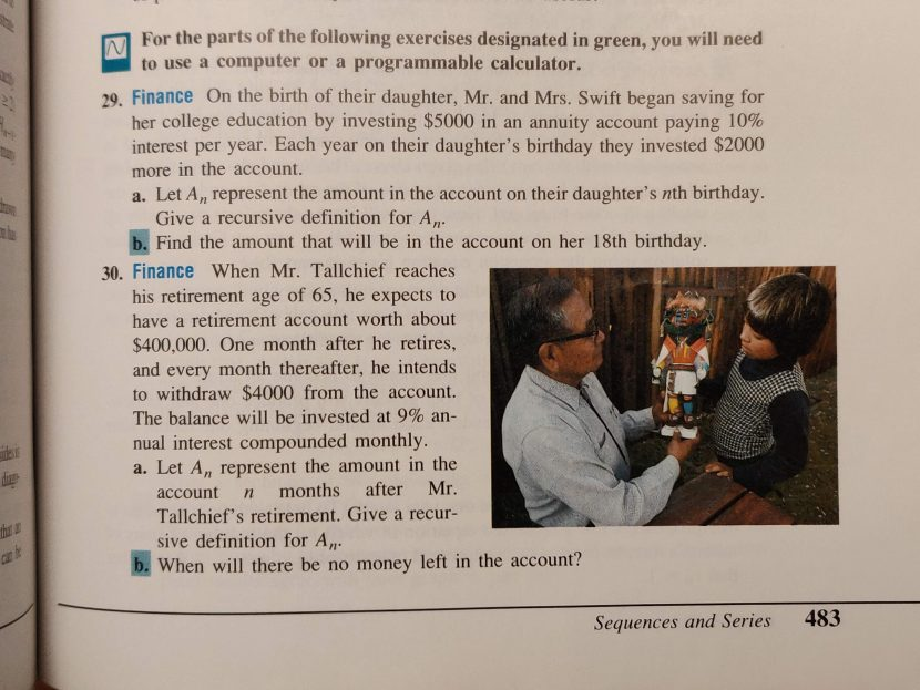 Personal Finance Math From My 1992 High School Textbook