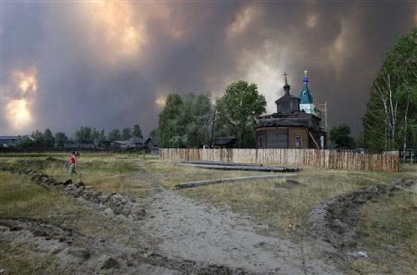 Russian Patriarch Prays For Rain As Wildfires Rage Photo: Mikhail Voskresensky