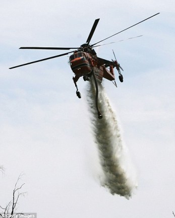 In action: A Sky crane like the one shrink-wrapped above