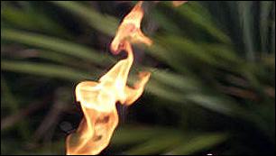 Für Feuer braucht es dreierlei: Brennstoff, Sauerstoff, Zündfunken. Die Menschen haben sich die Verfügung darüber Stück für Stück angeeignet |  (c) epa (Schechter)