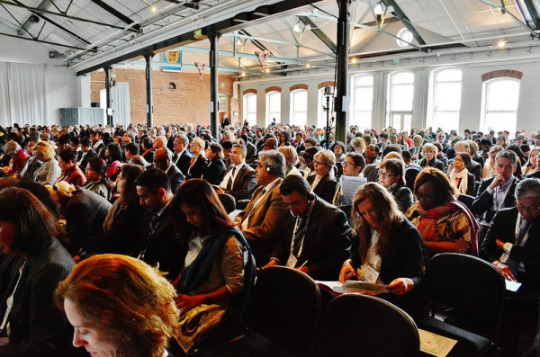 A well-attended morning session during the GFMD civil society days 2014