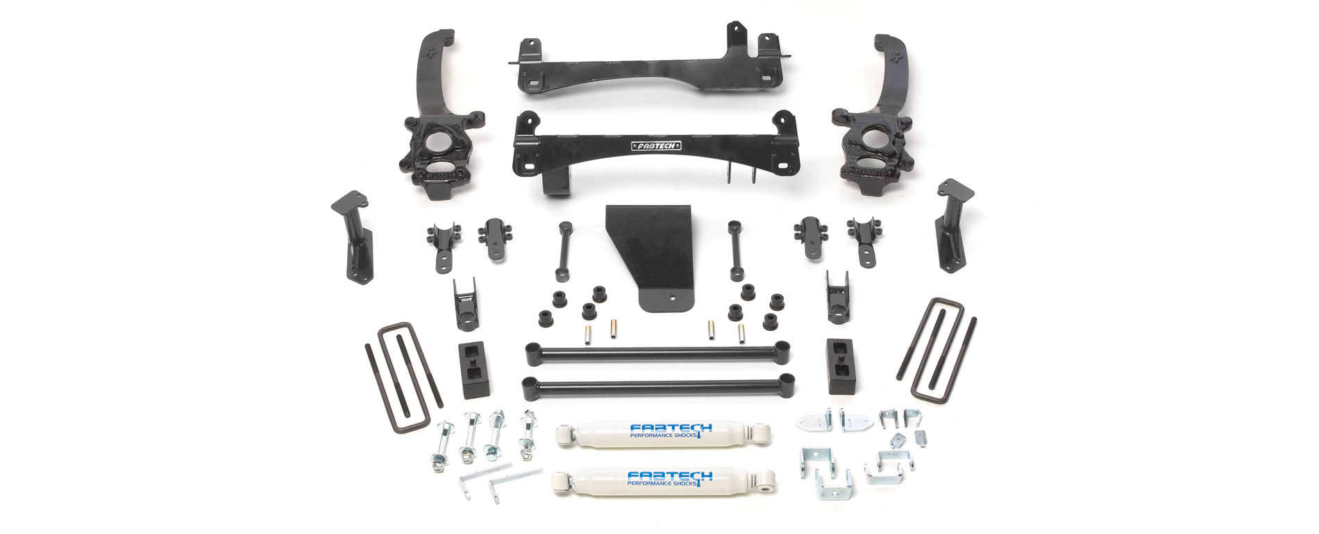 Fabtech 6 Basic System W Rear Performance Shocks