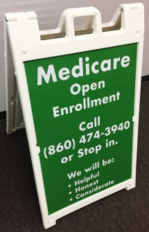 A-Frame Sign in South Windsor, CT