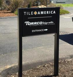 Post and Panel sign in Manchester, CT