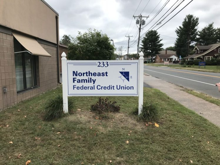 Post and Panel Sign in Manchester CT