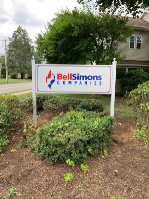 Post and Panel Sign in Hartford, CT