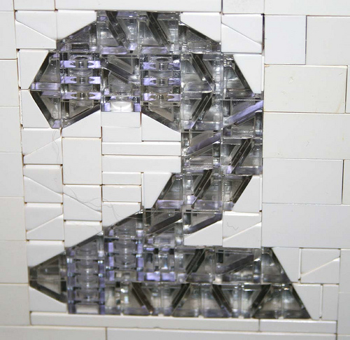 A mosaic representin the number 2