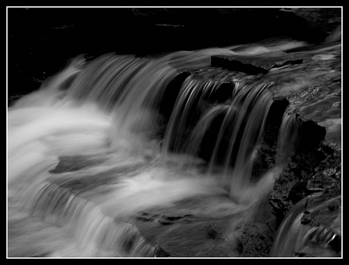 A waterfall with beautiful softness illustrating the delicacy of flow
