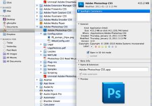 Screen shot Photoshop 32bit mode