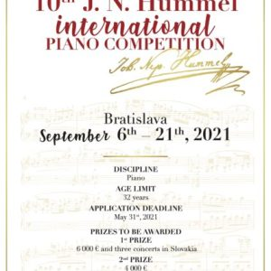 Johann Nepomuk Hummel International Piano Competition