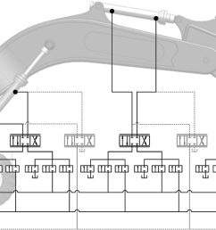 circuit layout of prototype machine with reference load sensing system and steam [ 6655 x 2220 Pixel ]
