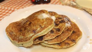 Gluten-Free Whole Grain Chocolate Chip Zucchini Pancakes